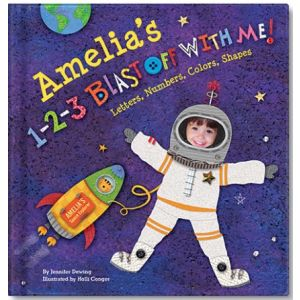 Blast Off with me Personalized Baby Book