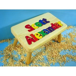 2 name personalized step stool