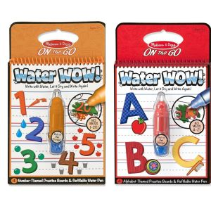 Melissa and Doug Water Wow! ABC and 123 Two Pack Bundle