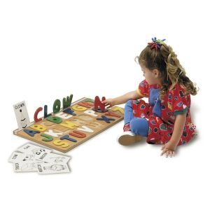 I Can Spell Alphabet Wooden Puzzle Toy