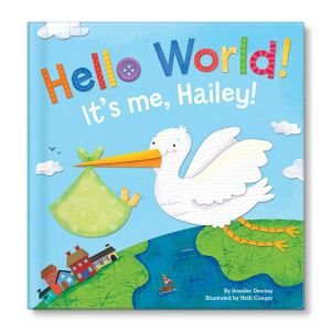 Hello World! for boys Personalized Story Book