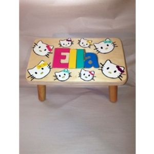 Kitty Kat Personalized Step Stool