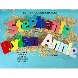 Interlocking name puzzle as baby room decor