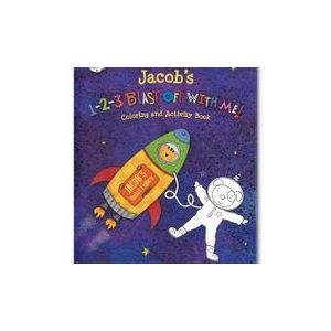 1-2-3 Blast Off With Me Personalized Story Book