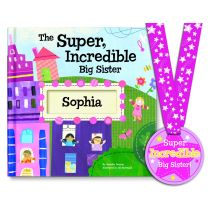 The Super, Incredible Big Sister Personalized Story Book & Medal