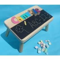 Personalized Kids Stool with Doodling Space