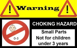 Choking Hazard Warning for 10 letter name train