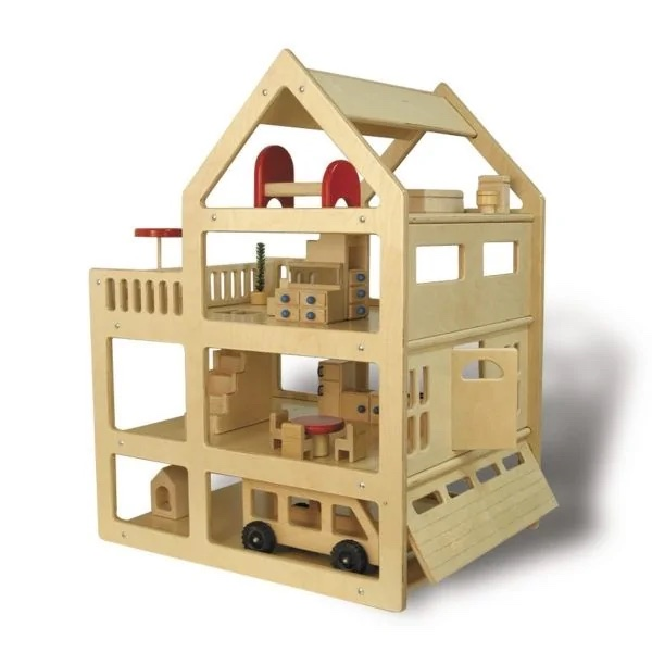 Heirloom Quality Wooden Family Dollhouse