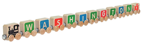 Wooden Alphabet Toy Train